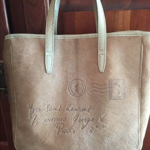 !SALE! Yves Saint Laurent Tote Mail Ponyhair